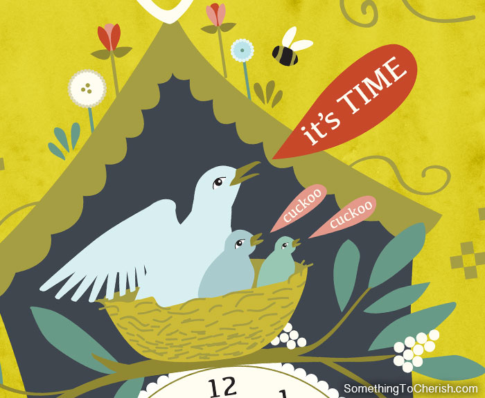 Cuckoo Clock by Cherish Flieder of Something to Cherish - Art Licensing & Illustration