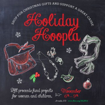 Social Media Sharable: Holiday Hoopla Chalk Art Campaign Illustrated and Designed by Cherish Flieder