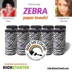 Original Black and White Zebra Print Paper Towels