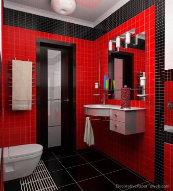 Red and Black Zebra Print Paper Towels
