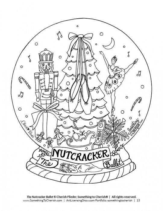 Nutcracker Ballet - Free Coloring Page by Cherish Flieder of SomethingtoCherish.com