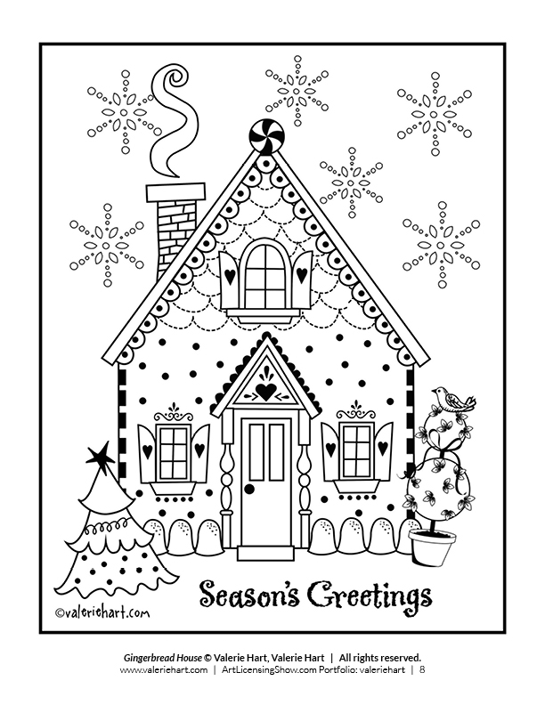 christmas crafts coloring pages - photo#39