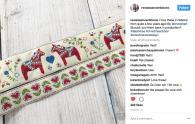 Swedish Dala Horse Ribbon - Renaissance Ribbons - Scandinavian Design by Cherish Flieder, Something to Cherish®