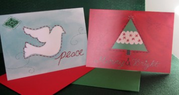 """Seal of Peace"" and ""Merry & Bright"" Christmas cards"