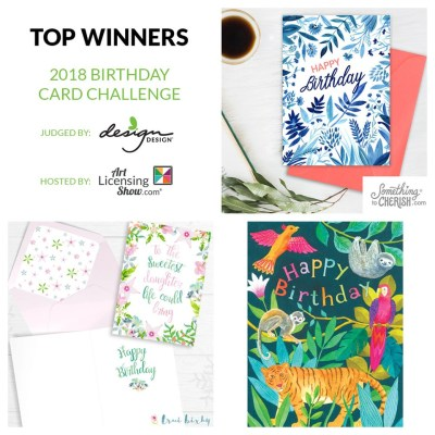 Birthday Greeting Card Art Licensing Challenge Winners