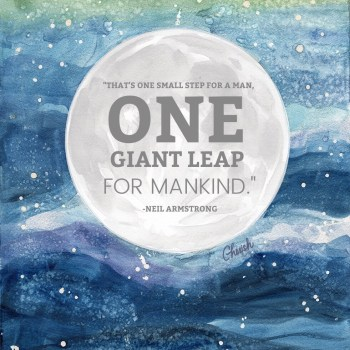 Inspirational GIANT Leap Cosmos Art – 50th Anniversary of Apollo 11