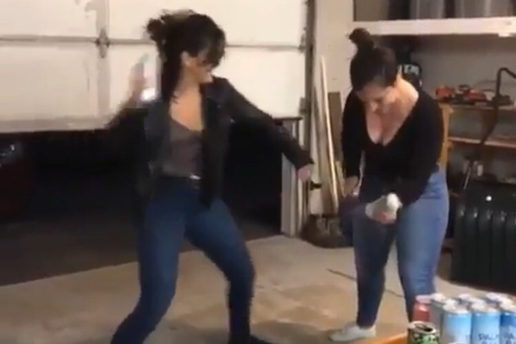 friend knocked out by beer