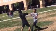 Tackled during school fight