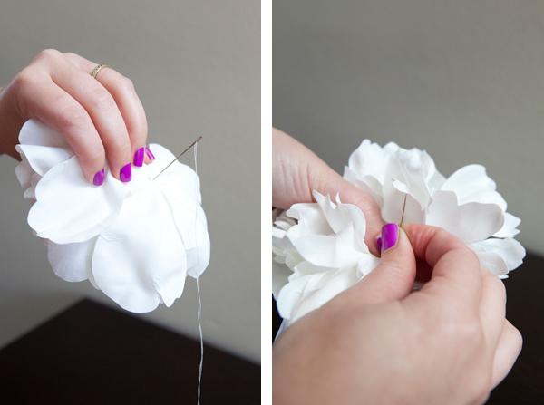 do it yourself flower hair piece