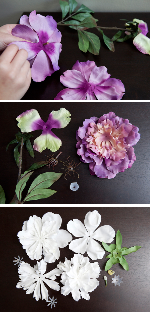 do it yourself flower hair piece