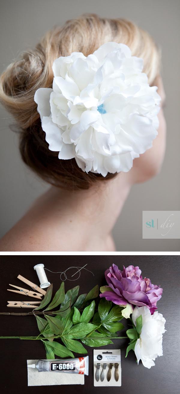 diy wedding hair flower tutorial