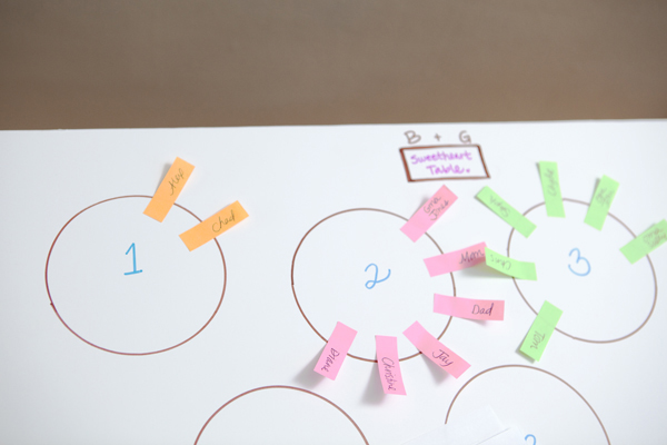 easy wedding seating chart how-to