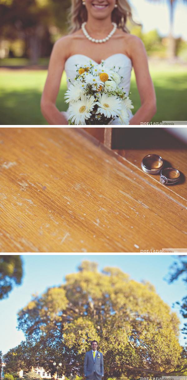 bride, flowers, and wedding rings
