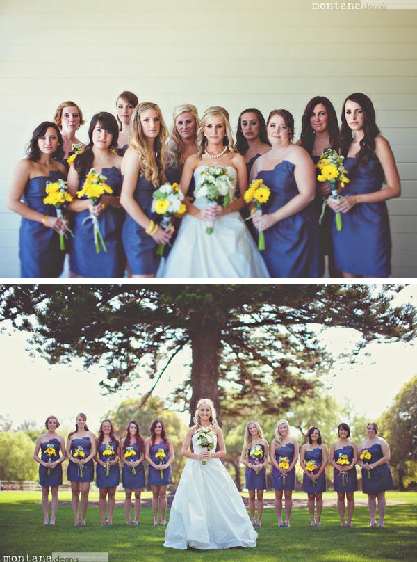 beautiful bridesmaids Montana Dennis