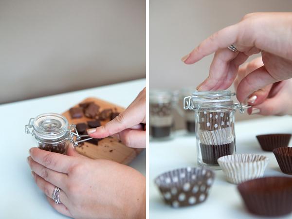 chocolate tasting wedding favors