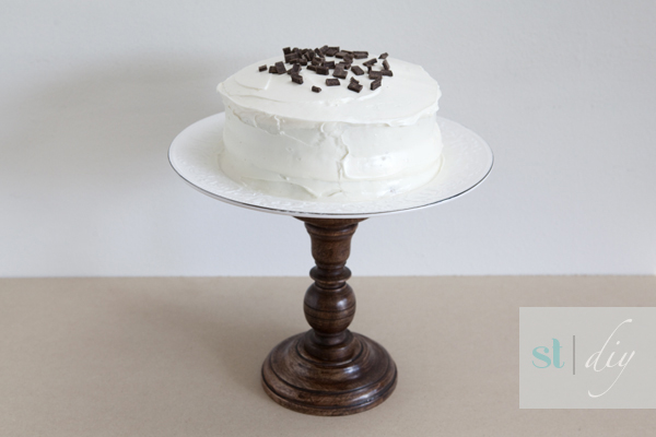 DIY wedding cake stand - Something Turquoise