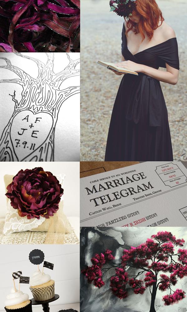 black and burgundy wedding inspiration