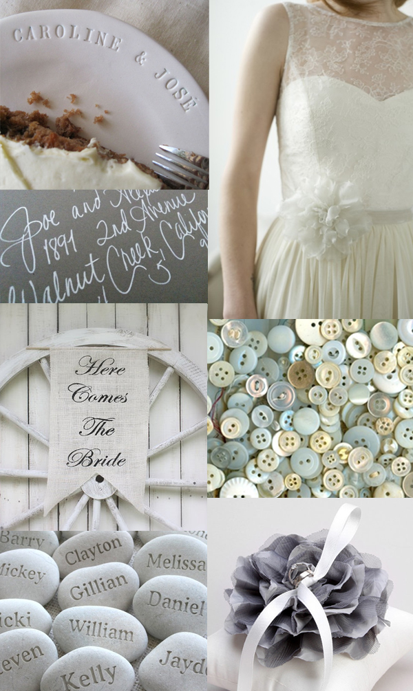 soft grey and white wedding inspiration