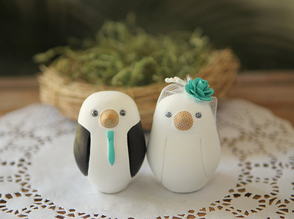 Etsy Owl Wedding Cake Topper