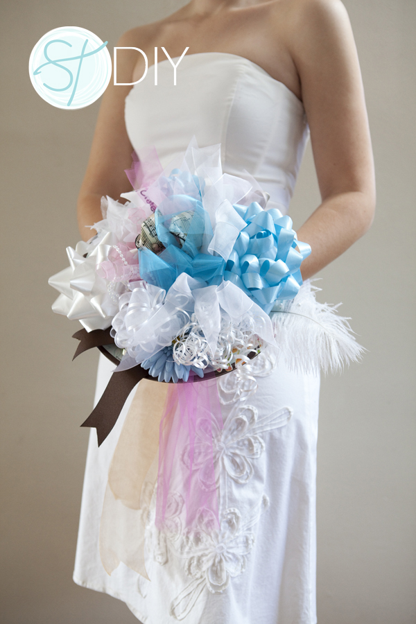 create wedding bouquet how to make a bridal shower bow bouquet easy steps 3179