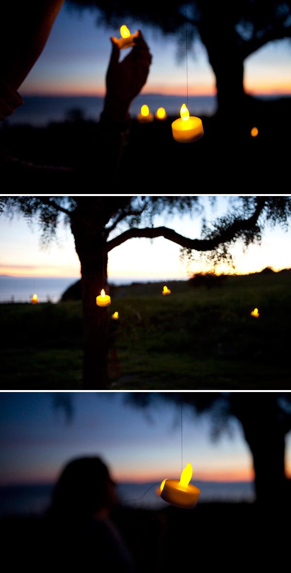 romantic tree lighting DIY via Something Turquoise