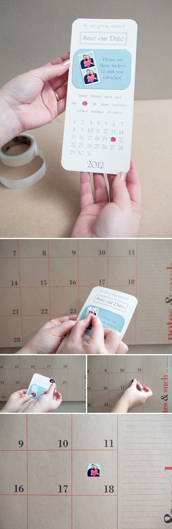 Instagram Sticker Save-the-Date Invitations