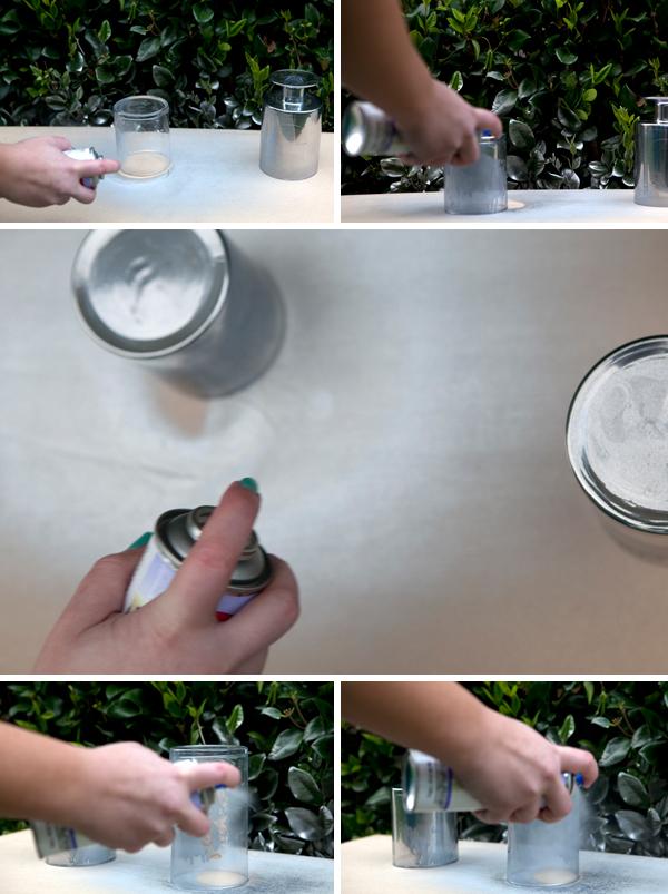 DIY - Painted mirror glass wedding table numbers