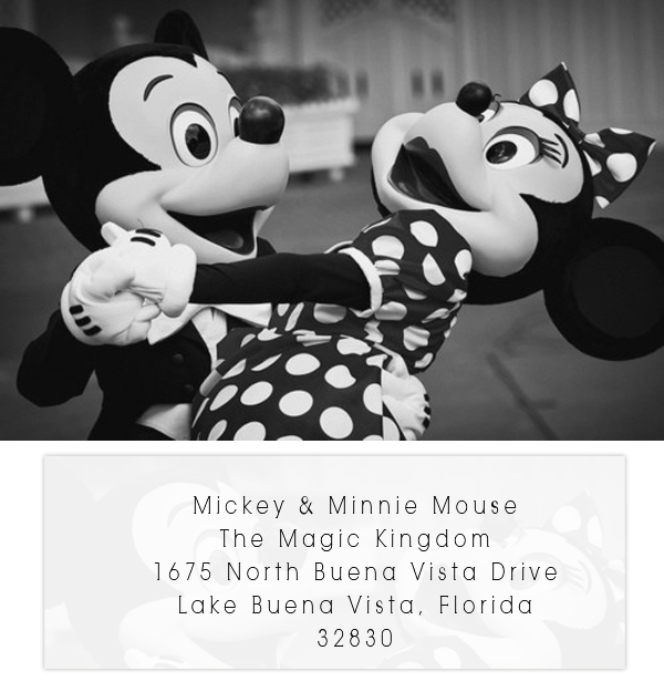 They Do Send Out A Little Watercolor Card With Congratulations If You An Invitation To Mickey Mouse Though The Address Is Below