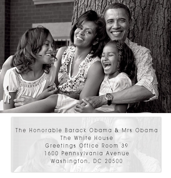 wedding invitation to the president of the united states