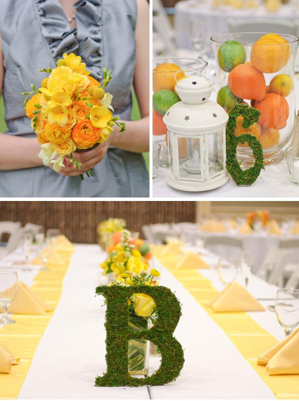florida orange theme wedding