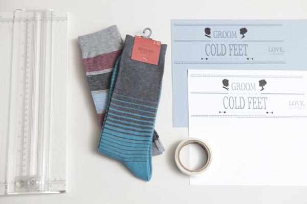 DIY groom socks cold feet