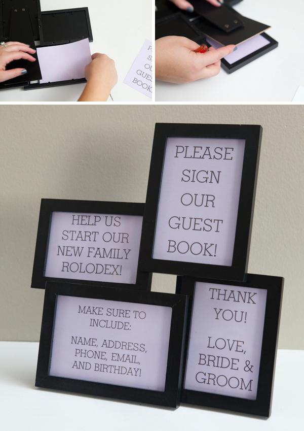 DIY Wedding Guest Book Rolodex