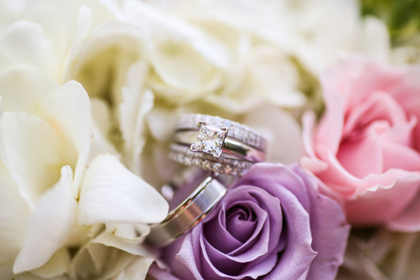 wedding ring in roses