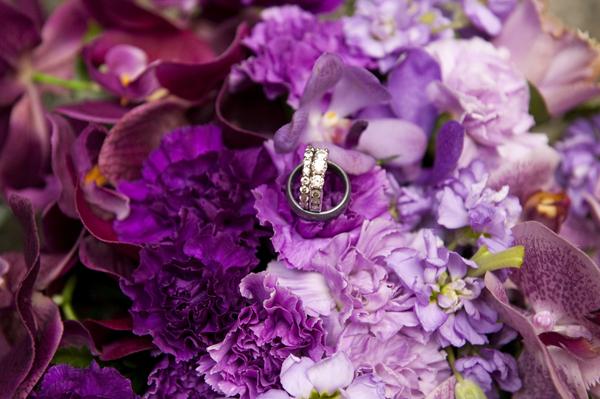 purple ombre wedding inspiration