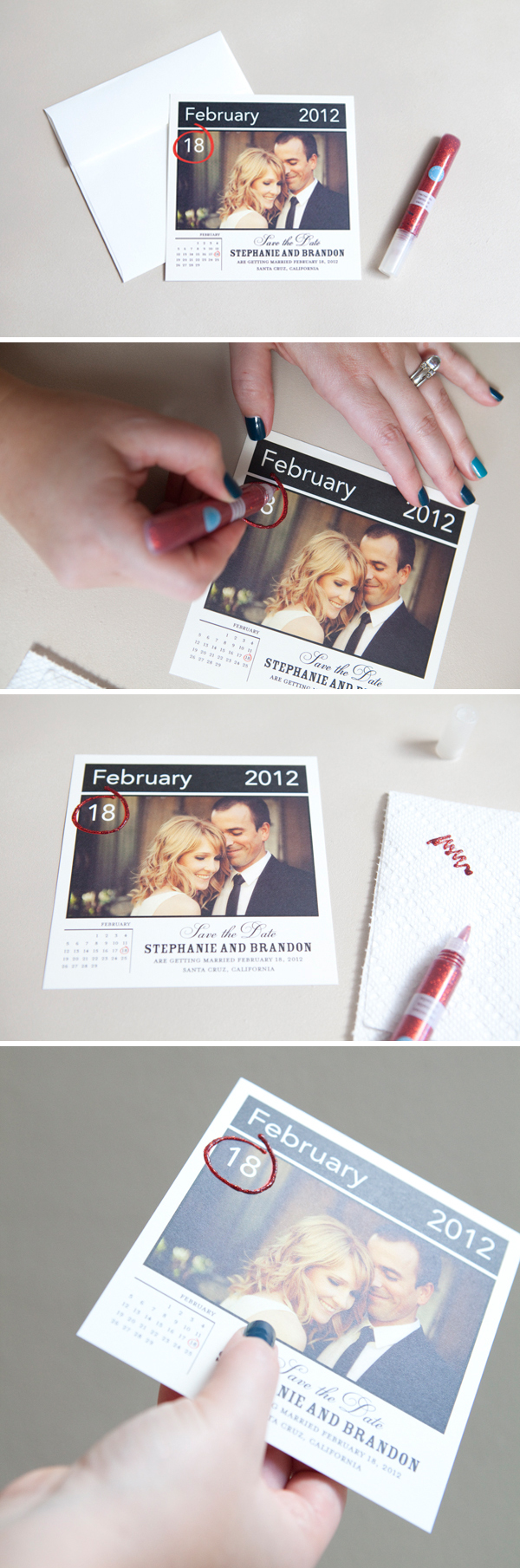 How to embellish store bought save the dates!