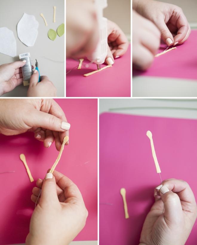 how to make a felt calla lily
