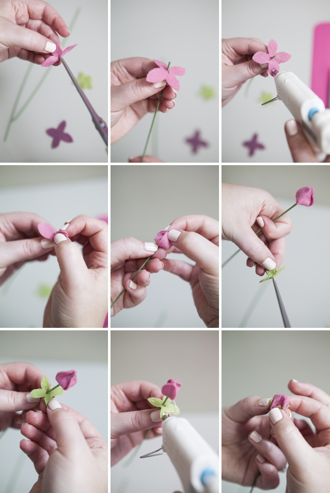 Learn how to easily make felt ranunculus with this tutorial!