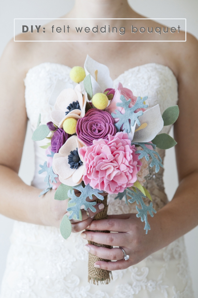 This Wedding Bouquet Is Made Out Of Felt Flowers