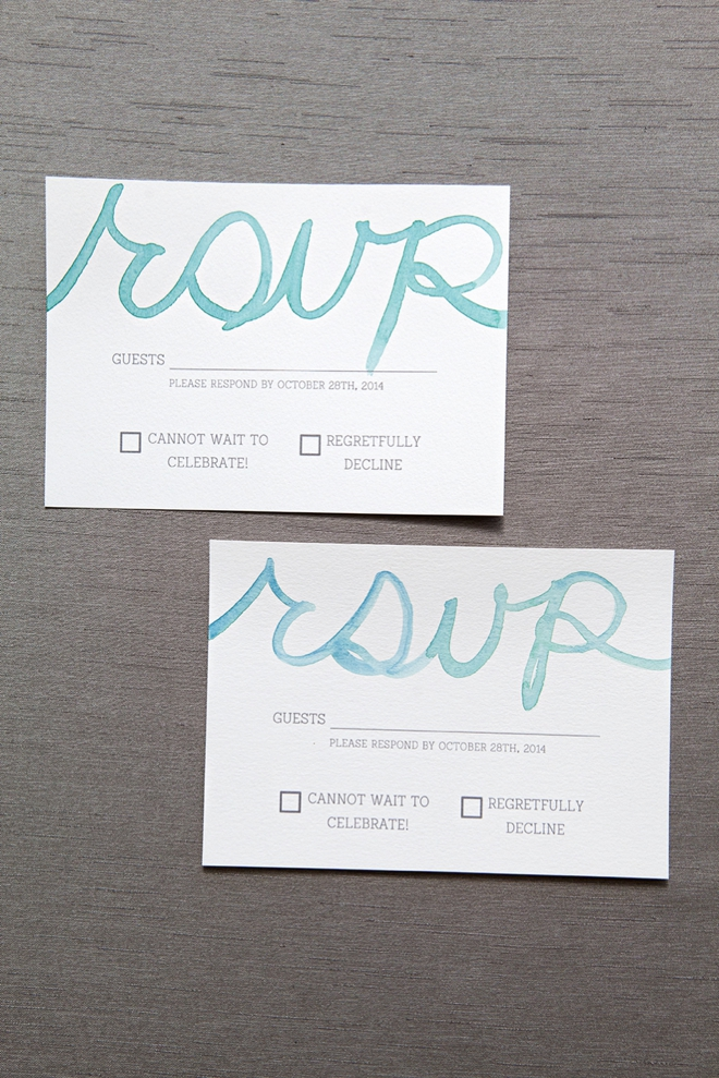 How to watercolor your wedding response cards!