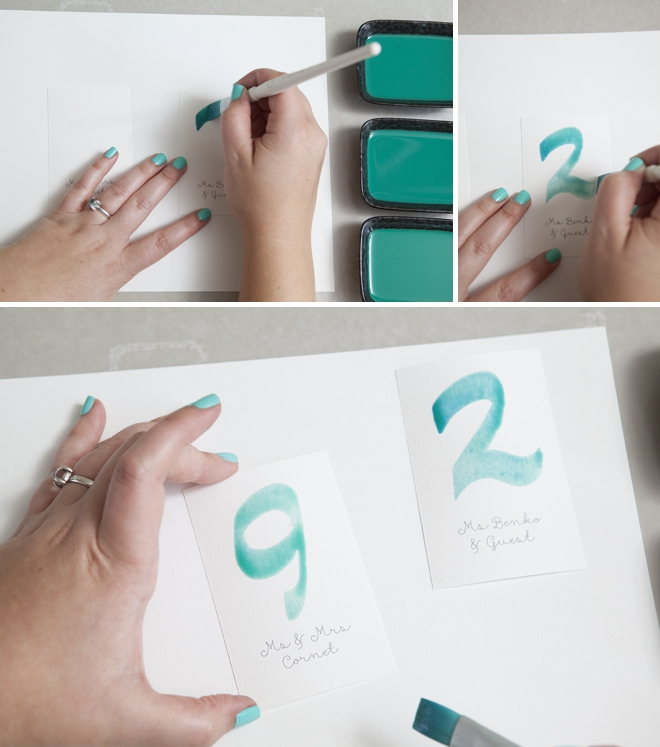 How to watercolor your wedding escort cards!