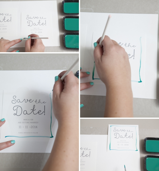 How to watercolor your wedding save the date!