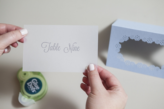 How to make simple paper table number cards