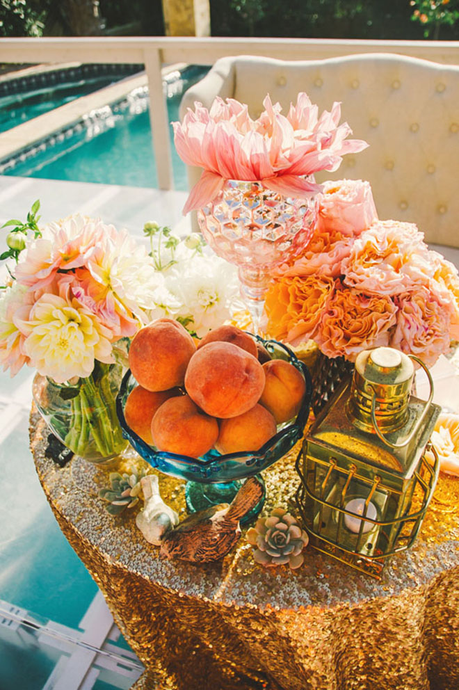 Steal This Style // How to recreate this glittery sweetheart table