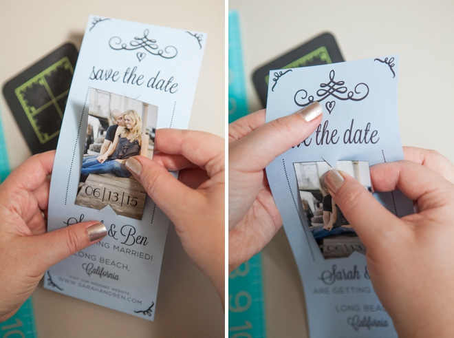 Learn how to easily make your own magnet save the dates diy wedding magnet save the date invitations junglespirit Gallery