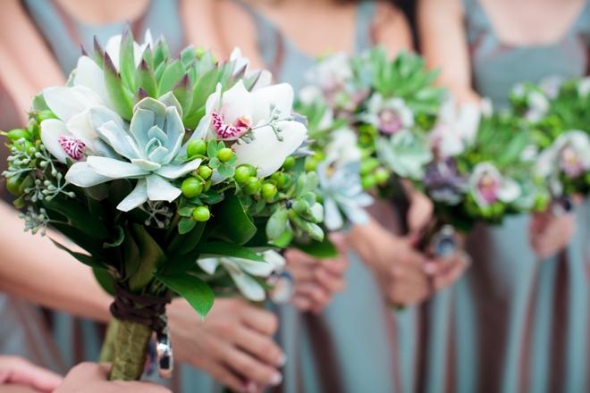 Beautiful succulent bouquets