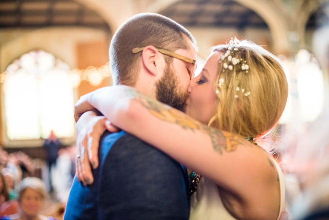 You may now kiss your boho bride!