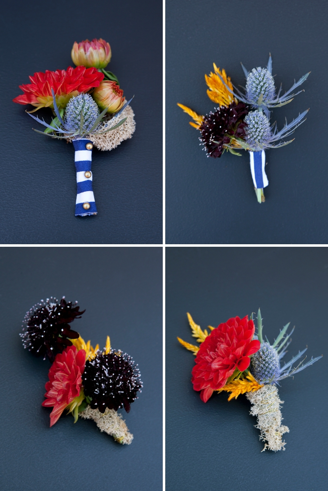 DIY Wedding // Nautical wedding boutonnieres