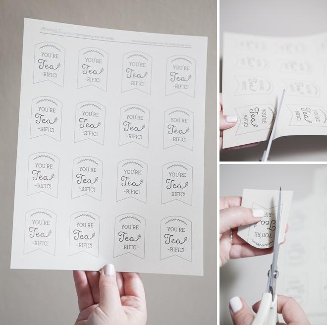 Free tea wedding favor tags