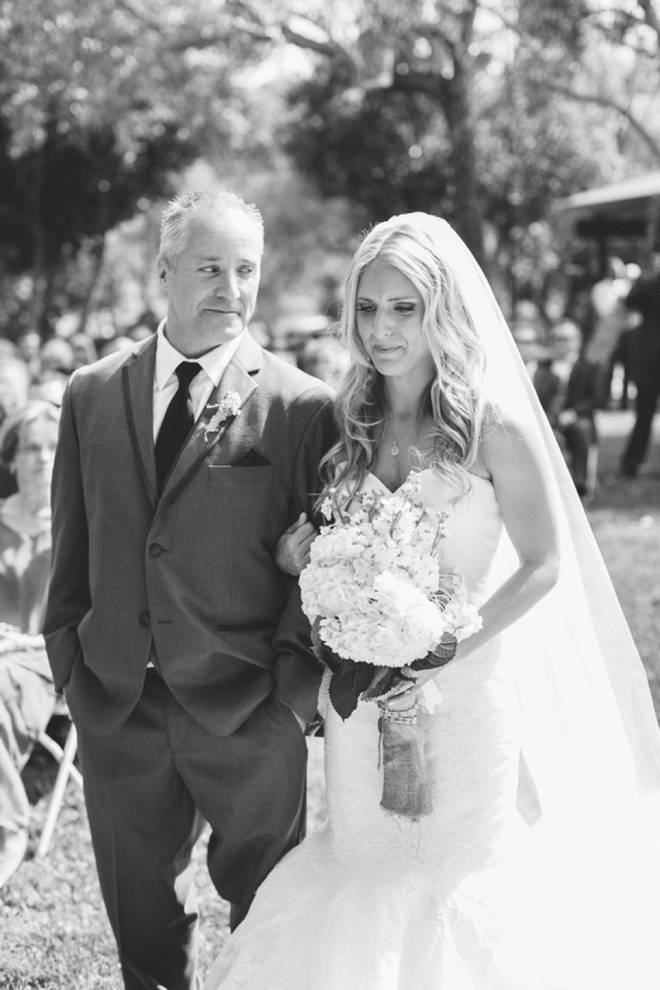 Father walking his daughter down the aisle