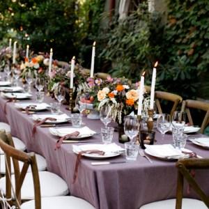 Purple fall tablescape